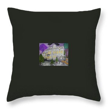 Throw Pillow featuring the painting S M Stephenson Home by Jonathon Hansen