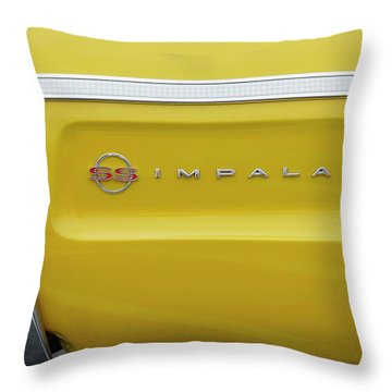 Throw Pillow featuring the photograph S S Impala by Mike McGlothlen