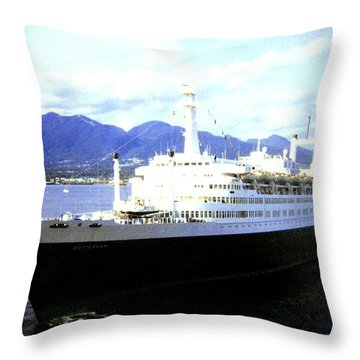 S S Rotterdam Throw Pillow by Will Borden