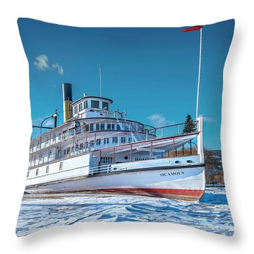 Throw Pillow featuring the photograph S. S. Sicamous by John Poon