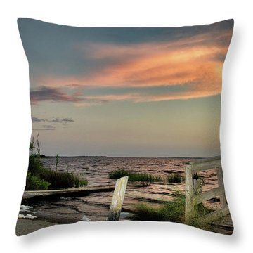 Time Is A River Throw Pillow