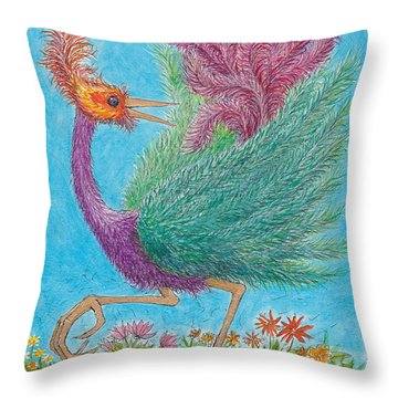 s9  Fine Feathers Throw Pillow by Charles Cater