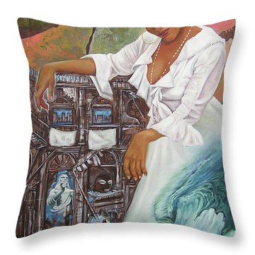 Sabanas Blancas Throw Pillow
