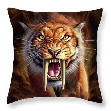 Sabertooth Throw Pillow