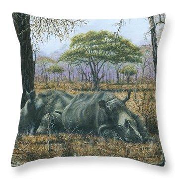 Sabi Sand Siesta Throw Pillow by Richard Harpum