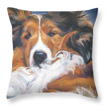 Sable Shetland Sheepdog Throw Pillow by Lee Ann Shepard