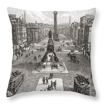 Sackville Street  Now O Connell Street Throw Pillow
