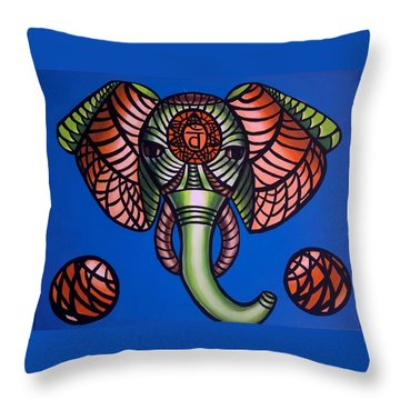 Sacral - Abstract Painting Throw Pillow