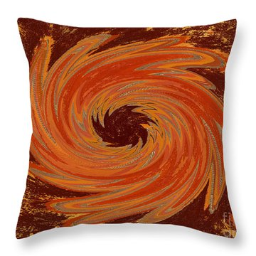 Sacral Flower Digital Throw Pillow