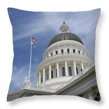 Sacramento Capitol Building Throw Pillow