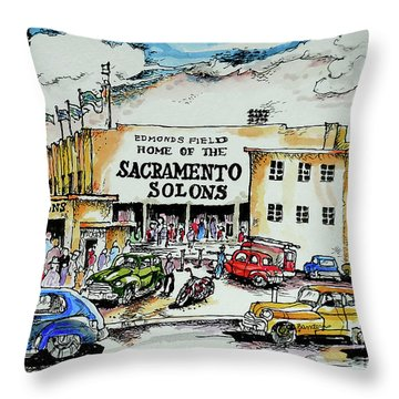 Sacramento Solons Throw Pillow by Terry Banderas