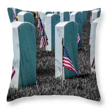 Throw Pillow featuring the photograph Sacramento Valley Veterans Cemetary by Bill Gallagher