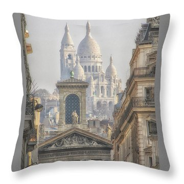 Sacre-coeur  Throw Pillow