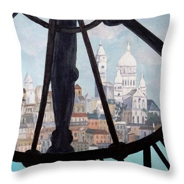Sacre Coeur From Musee D'orsay Throw Pillow by Diane Arlitt