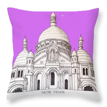 Sacre Couer Throw Pillow by Frederic Kohli