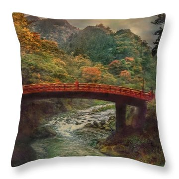 Throw Pillow featuring the photograph Sacred Bridge by Hanny Heim