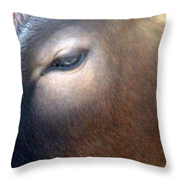 Throw Pillow featuring the photograph Sacred Cow 5 by Randall Weidner