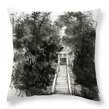 Sacred Gate  Throw Pillow