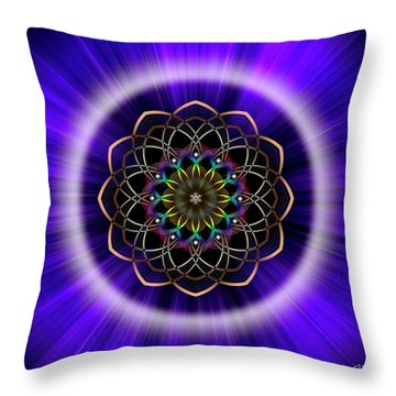 Sacred Geometry 242 Throw Pillow