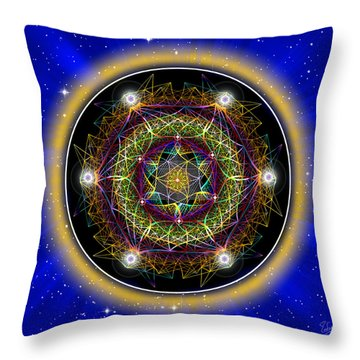 Throw Pillow featuring the photograph Sacred Geometry 406 by Endre Balogh