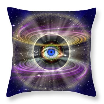 Throw Pillow featuring the photograph Sacred Geometry 407 by Endre Balogh