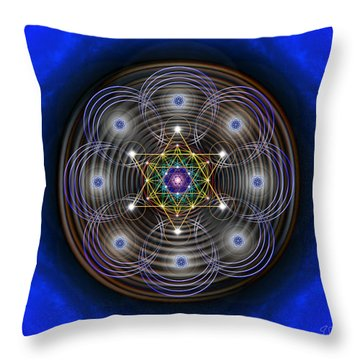 Throw Pillow featuring the photograph Sacred Geometry 410 by Endre Balogh