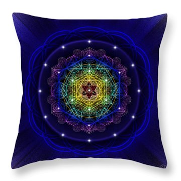 Throw Pillow featuring the photograph Sacred Geometry 411 by Endre Balogh