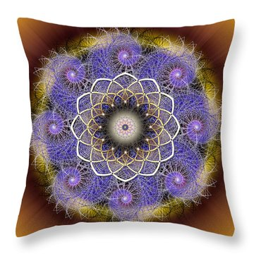 Throw Pillow featuring the photograph Sacred Geometry 412 by Endre Balogh