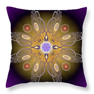 Sacred Geometry 413 Throw Pillow