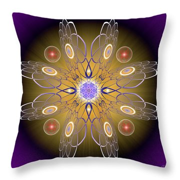 Sacred Geometry 413 Throw Pillow