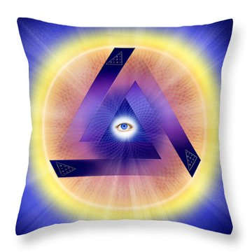 Throw Pillow featuring the photograph Sacred Geometry 414 by Endre Balogh