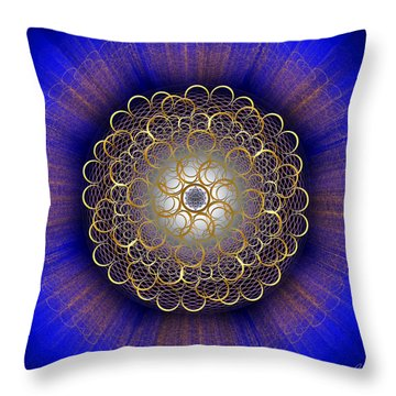 Throw Pillow featuring the photograph Sacred Geometry 415 by Endre Balogh