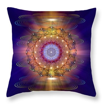 Throw Pillow featuring the photograph Sacred Geometry 416 by Endre Balogh