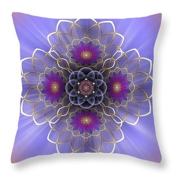 Throw Pillow featuring the photograph Sacred Geometry 417 by Endre Balogh