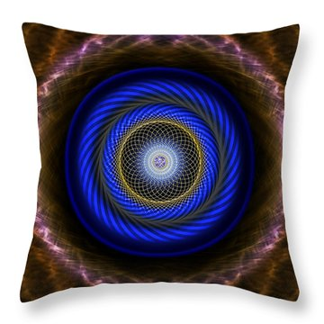 Throw Pillow featuring the photograph Sacred Geometry 418 by Endre Balogh