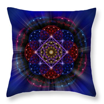Throw Pillow featuring the photograph Sacred Geometry 419 by Endre Balogh