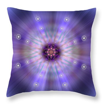 Throw Pillow featuring the photograph Sacred Geometry 420 by Endre Balogh