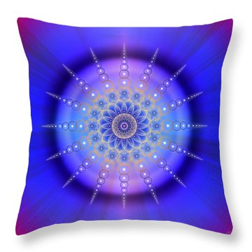 Throw Pillow featuring the photograph Sacred Geometry 421 by Endre Balogh