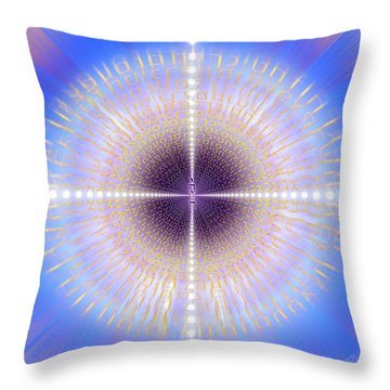 Throw Pillow featuring the photograph Sacred Geometry 422 by Endre Balogh