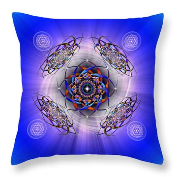 Sacred Geometry 425 Throw Pillow