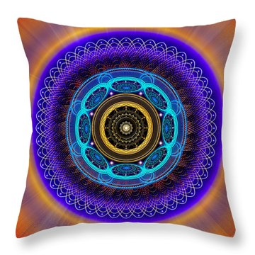 Throw Pillow featuring the photograph Sacred Geometry 426 by Endre Balogh