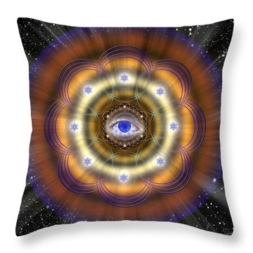 Throw Pillow featuring the photograph Sacred Geometry 427 by Endre Balogh