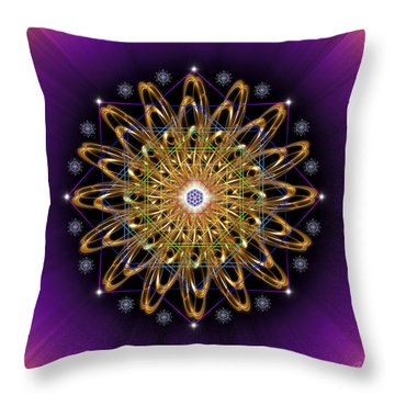 Sacred Geometry 428 Throw Pillow