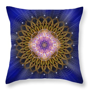 Throw Pillow featuring the photograph Sacred Geometry 429 by Endre Balogh