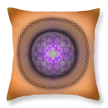 Throw Pillow featuring the photograph Sacred Geometry 430 by Endre Balogh