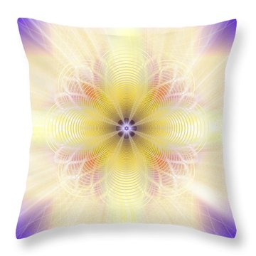 Throw Pillow featuring the photograph Sacred Geometry 431 by Endre Balogh