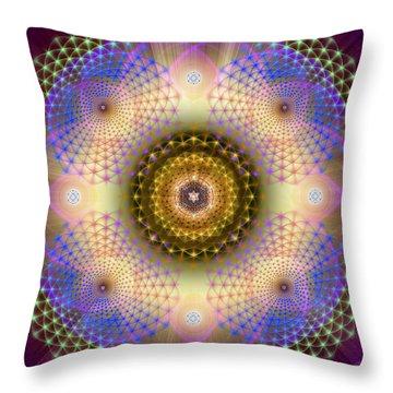 Sacred Geometry 432 Throw Pillow
