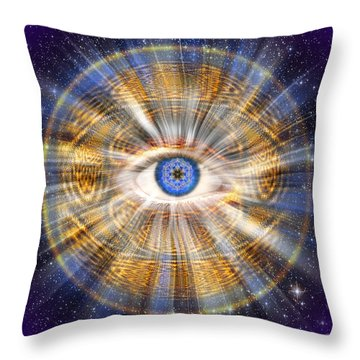 Sacred Geometry 435 Throw Pillow by Endre Balogh