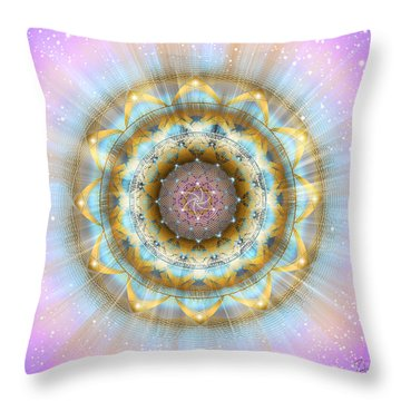 Sacred Geometry 438 Throw Pillow by Endre Balogh
