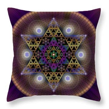 Sacred Geometry 441 Throw Pillow